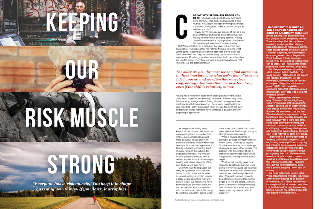 paleo magazine design-risk muscle
