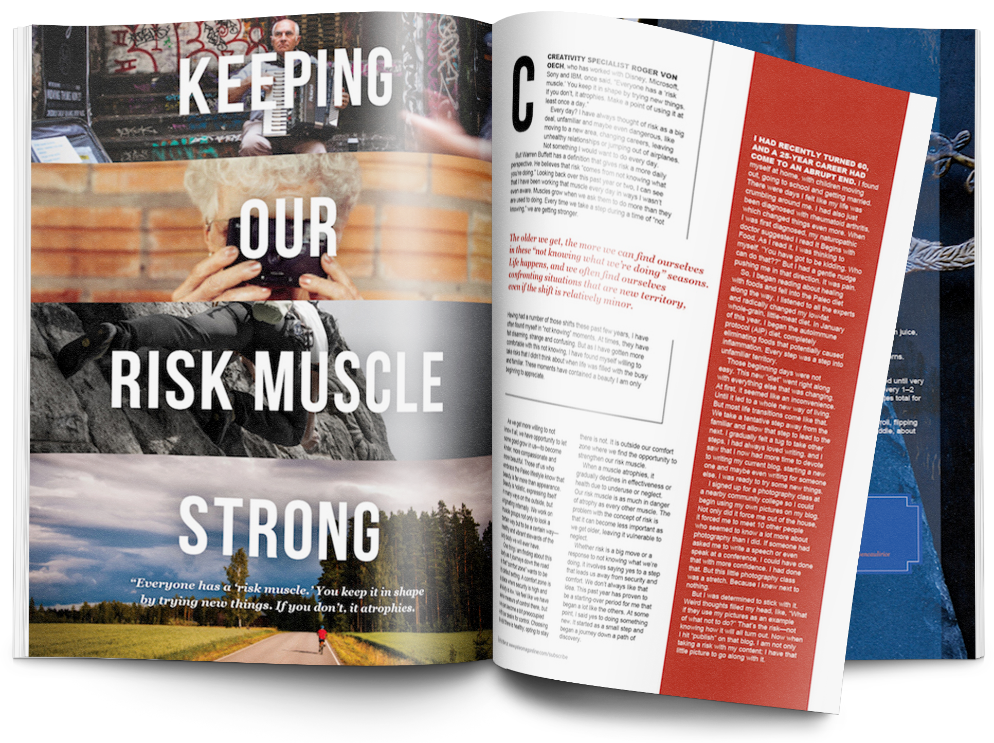 Paleo Magazine-editorial-graphic design services in bend