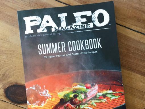 Paleo Magazine Summer Cookbook Design